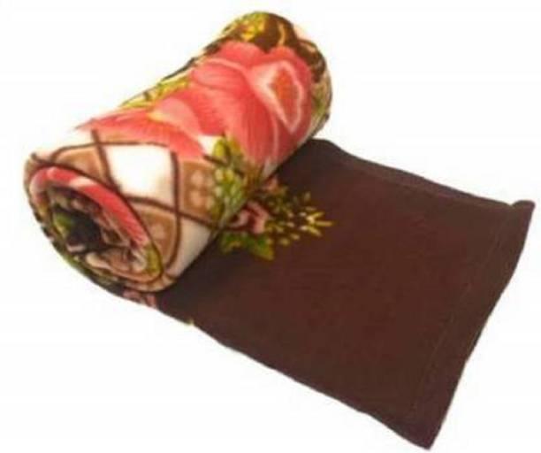 Usiosra Floral Single Fleece Blanket