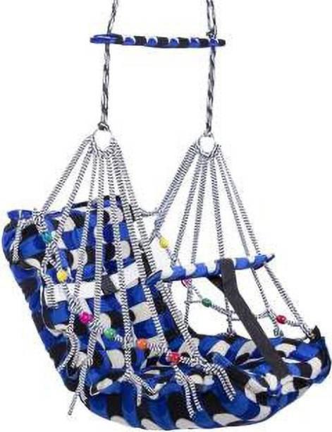 baluda Cotton Hanging Swing Kids Folding & Washable Jula Swings (Multicolor) Swings