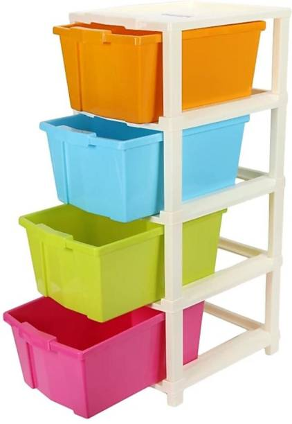 HUMBLE KART Plastic Free Standing Chest of Drawers (Finish Color - Multicolor) Plastic Free Standing Chest of Drawers