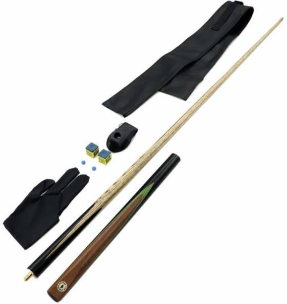 Laxmi Ganesh Billiard SA51 LGB Combo of Master PROBUTT CUES with 2 Chalk,1 PCS CUE Cover,1 PCS Glove,2 PCS CUE TIP,1 Chalk Holder Snooker, Pool, Billiards Cue Stick
