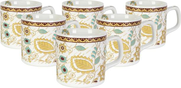 FARKRAFT Pack of 6 Ceramic Tea & Coffee Cups