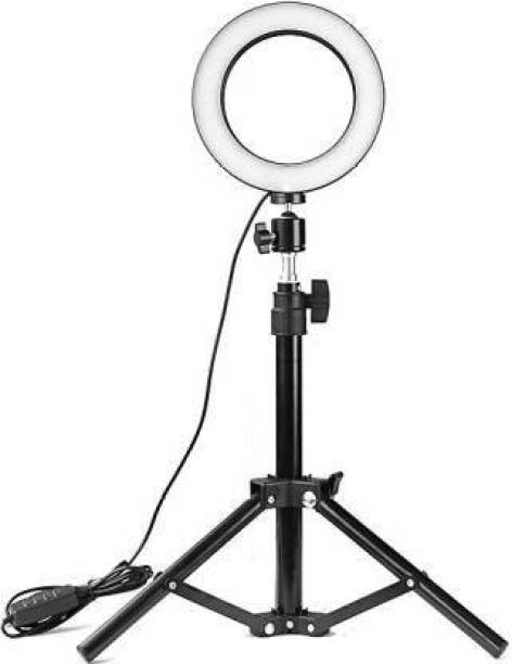 MAIPLE 10 Inches Large LED Ring Light with Tripod for YouTube, Instagram, Makeup, TikTok, Taka-Tak, Reels, Photo Video Shooting Stand Ring Flash