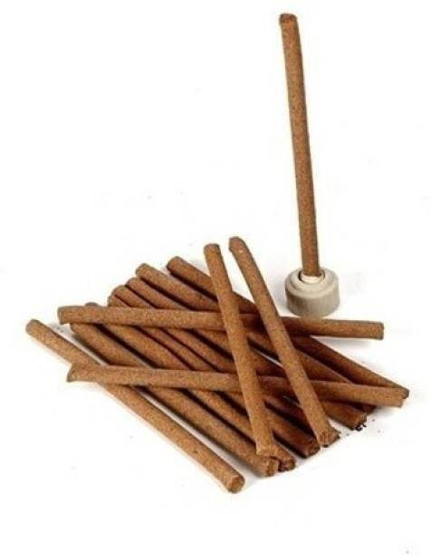 Crafts For You Dry Incense Sticks with stand, Fragrance Agarbattis for Pooja (50 Sticks) Sandal Dhoop