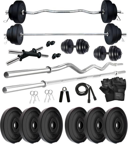 KRX PVC 30 KG COMBO 343-WB Home Gym Kit