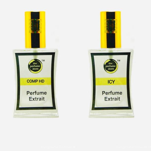 The perfume Store COMP HD & ICY PREMIUM PERFUME PACK OF 2 Extrait De Parfum  -  120 ml