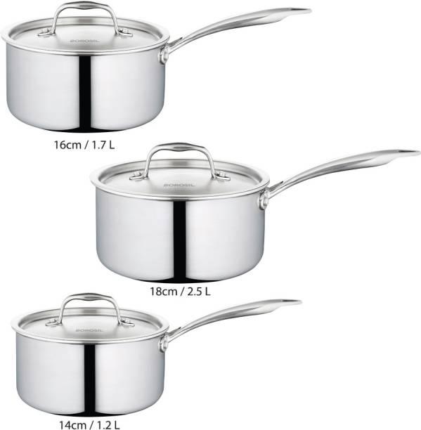 Borosil Cookfresh Five-ply Sauce Pan 25.5 cm diameter