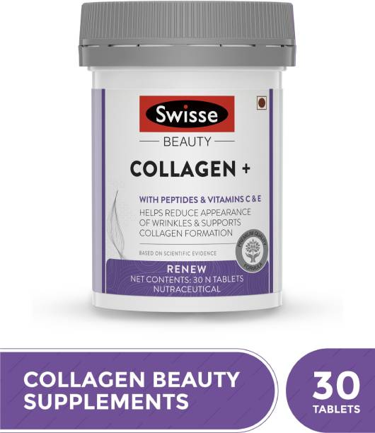 Swisse Beauty Collagen Supplement with Peptides, Vitamin C & E for Beautiful Skin