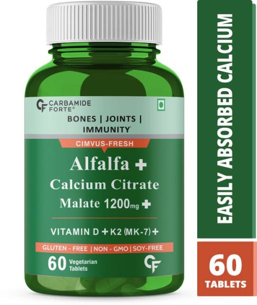CF Alfalfa Calcium Citrate Malate 1200mg Tablets for Women & Men