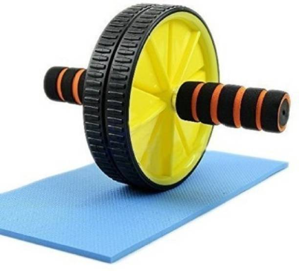 Shopeleven DL50 Double Wheel Ab Roller Gym Fitness Equipment Ab Exerciser Ab Exerciser