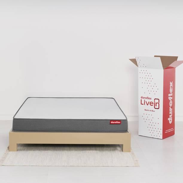 DUROFLEX Livein 8 inch King High Resilience (HR) Foam Mattress
