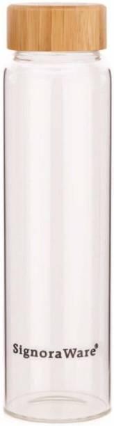 Signoraware Bamboo silicate Glass Bottle 1000ml 1000 ml Bottle