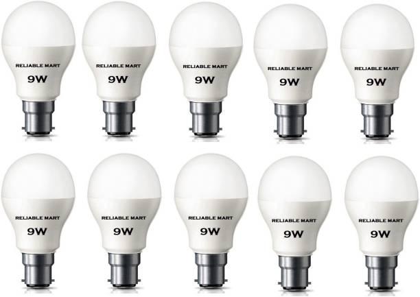 Reliable Mart 9 W Round B22 LED Bulb