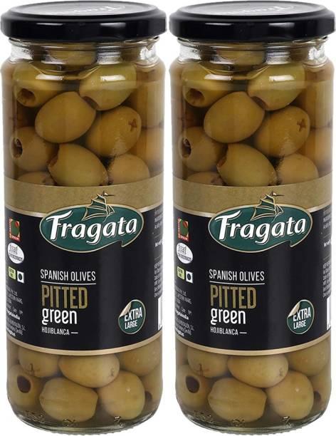 Fragata Pitted Green Olives 440g Pack of 2 Olives