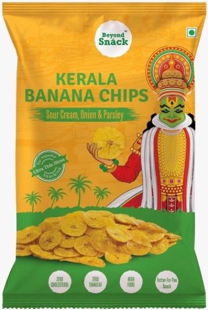 Beyond Snack Banana Chips Sour Cream Onion Parsley Flavour snacks Chips