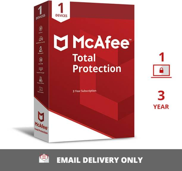 McAfee 1 PC 3 Years Total Security (Email Delivery - No CD)
