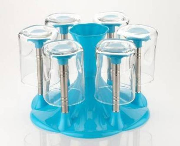 HUMBLE KART HBKT BLUE GLASS STAND Plastic, Steel Glass Holder
