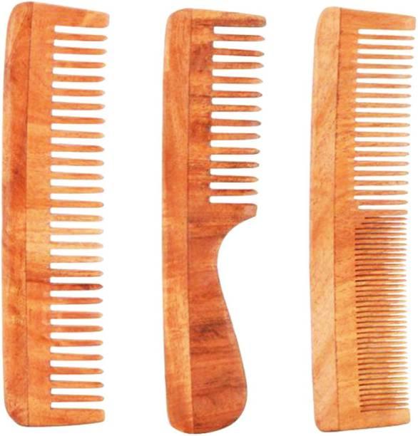Tora Creations Tora Neem Wood Combo Set of 3 Anti-Bacterial| Anti-Allergic| Anti-Fungal