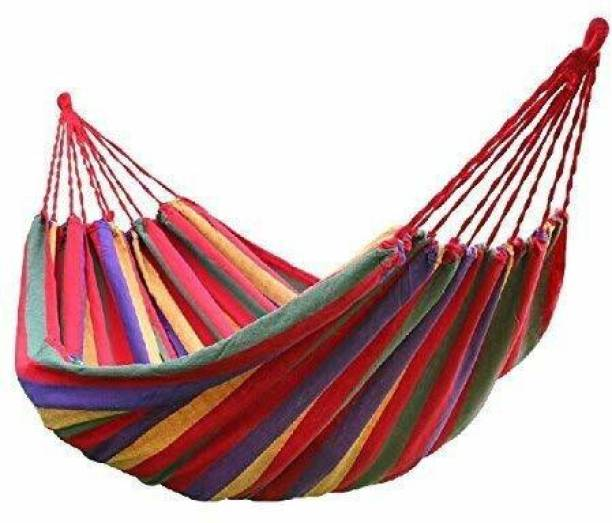 Swingzy Hammock Striped Hanging Rope Swing Cotton Small Swing