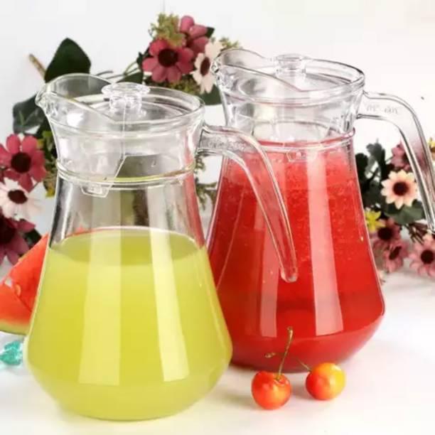 Joy2u 1.3 L Water 1.3 L Water Aquatic Glass jug Pitcher Jug (Glass) plastic lid Jug