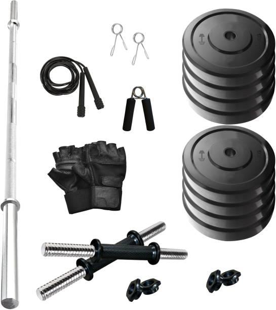 Adrenex by Flipkart 40 kg SOLID RUBBER 40 KG COMBO 9-WB Home Gym Kit Home Gym Combo