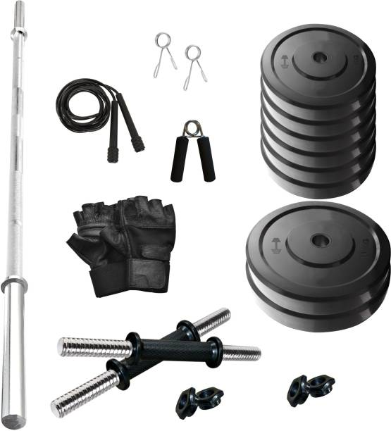 Adrenex by Flipkart 50 Kg SOLID RUBBER 50 KG COMBO 9-WB Home Gym Combo