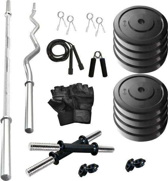 Adrenex by Flipkart 40 kg SOLID RUBBER 40 KG COMBO 2-WB Home Gym Kit Home Gym Combo