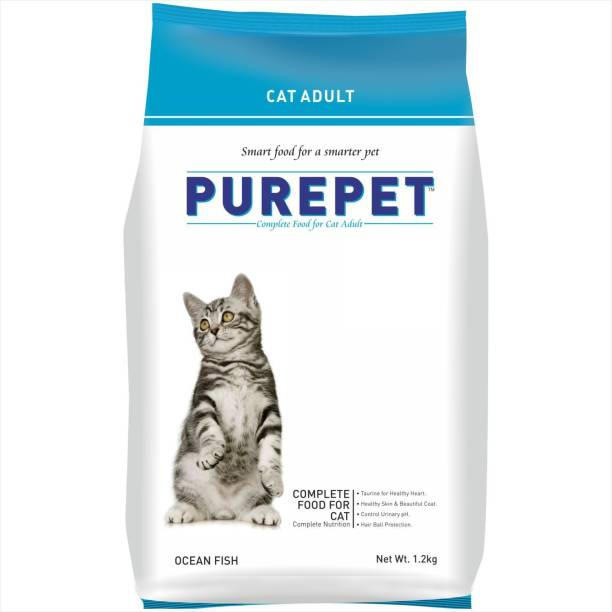 purepet Adult Ocean Fish 1.2 kg Dry Adult Cat Food