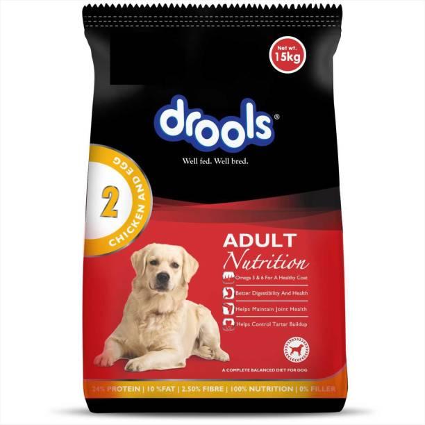 drools Adult Egg, Chicken 15 kg Dry Adult Dog Food