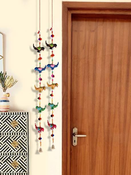 DreamKraft Handcrafted Parrot Door Hanging Toran Toran