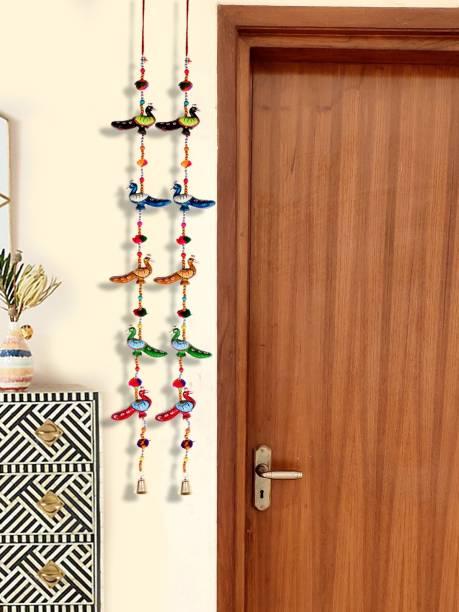 DreamKraft Rajasthani Peacock Door Hanging Toran For Main Door Toran