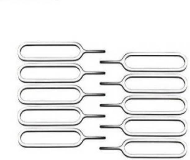 BUMTECH (10 Pcs. ) SIM Card Tray Ejector Pin Tool Sim Adapter (STEEL) Sim Adapter