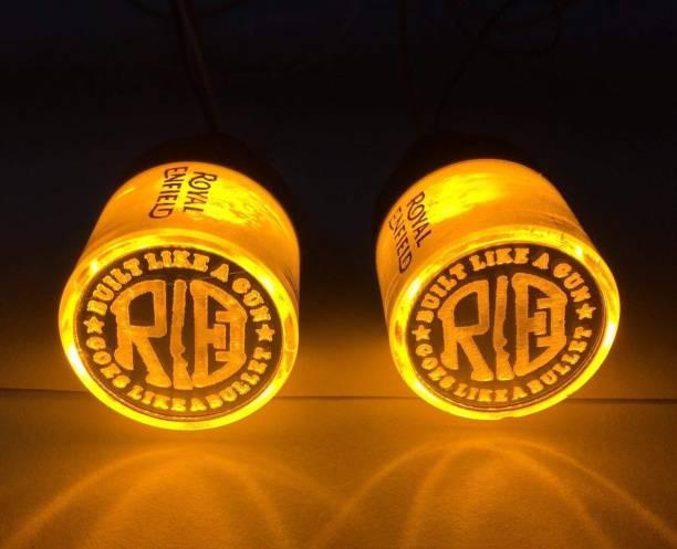 Olsic Side Marker, Fog Lamp, Interior Light, Indicator Light, Parking Light LED for Royal Enfield (Bullet 500, Pack of 2) Bike Handlebar Weights