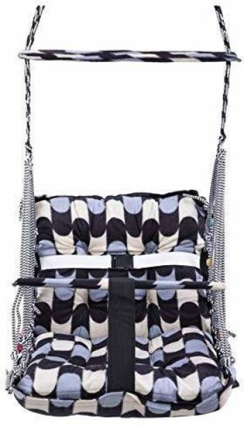 sellivica Cotton Swing for Kids Baby's Children Folding and Washable 1-10 Years with Safety Belt - Home,Garden Jhula for Babies | Swing for Babies | Outdoor Swing for Kids (Multicolor) Swings