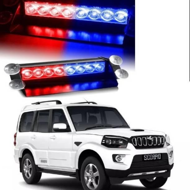 KARDECK Waterproof 8 LED Red Blue Police Flashing Light for SCORPO Car Fancy Lights