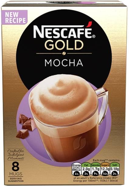 Nescafe Gold Mocha 8 Mugs Coffee Instant Coffee