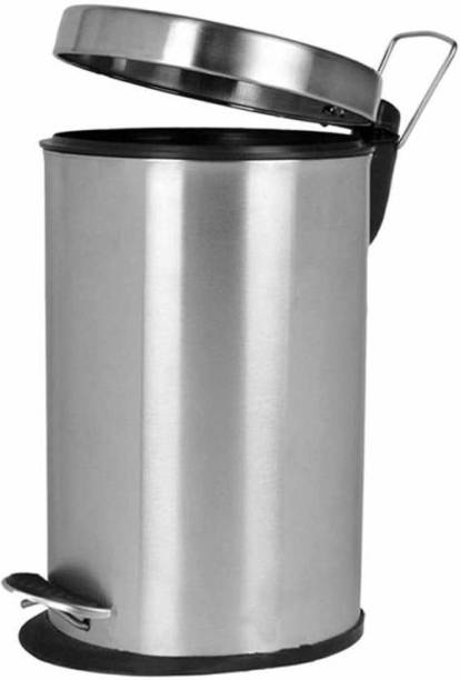 """Allure Auto SS Open Dustbin for Home, Office, Kitchen, Bathroom, ,(7"""" x 10"""") Perforated Steel Finish Stainless Steel Dustbin Stainless Steel Dustbin"""