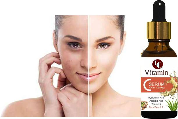 INDO CHALLENGE Vitamin C Serum With Hyaluronic Acid, Glowing Skin & Age-Defying , Fairness Brightening