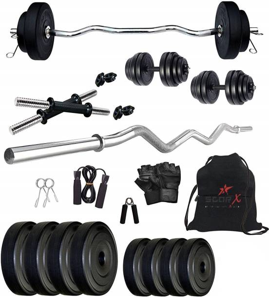 Star X 10 kg PVC10Kg3ftSX1 Home Gym Combo