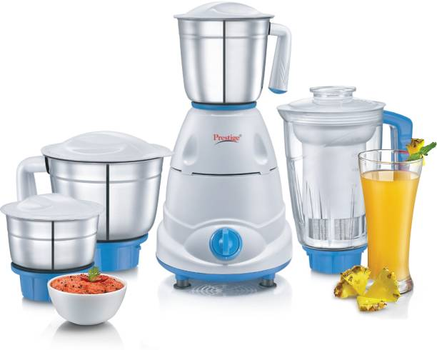 Prestige Atlas Plus 750 W Juicer Mixer Grinder (4 Jars, Blue, White)