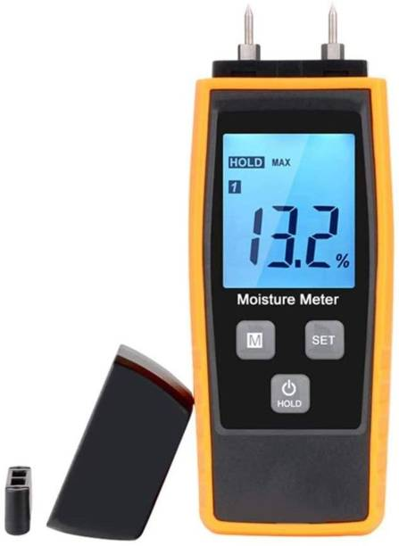 amiciSense Wood Moisture Meter Digital Humidity Tester for Wood, Cement Motor, Wall, Firewood, Paper, etc. Pin-Type Digital Moisture Measurer