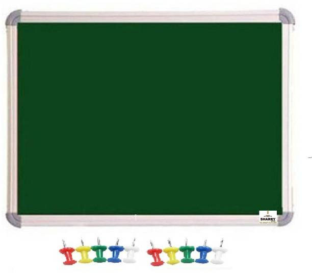 Sharry Notice or Bulletin Board or Soft or Pin-up board Red 2' foot x 1.5' foot (10 board Pins) Notice Board