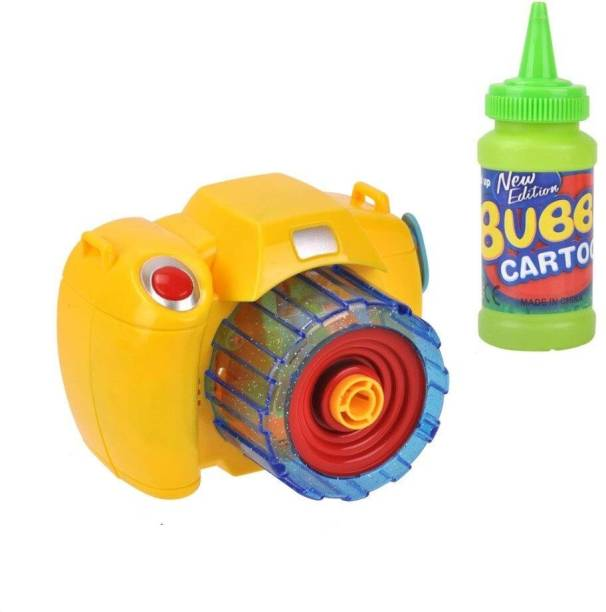 Kaizen Enterprises Bubble Camera Say Cheese Toys with Bottle Blowing Bubbles with Light & Music, Kid's Activity Fun Play Toys