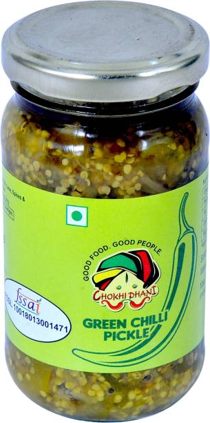 Chokhi Dhani Foods Green Chilli Pickle 200 gm Green Chilli Pickle