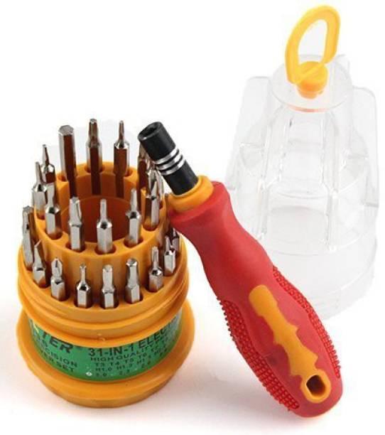 MRSC Multi-functional Pocket Screwdriver Set Magnetic Screwdriver Set 31 in 1 Tool Kit For Household Ratchet Screwdriver Set