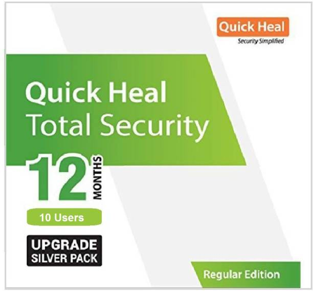 QUICK HEAL Total Security 10 User 1 Year (Renewal)