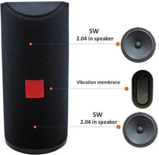 SHOPLINE TG-113 100% Best Quality |3D sound| Splashproof| Water resistant| Deep Baas Stereo sound quality | mini Home theatre| AUX supported| wireless Speaker| Long hour battery Life 10 W Bluetooth Speaker