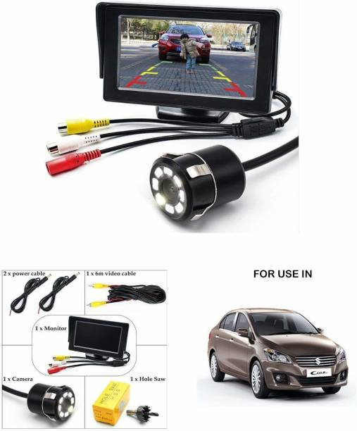 carempire TFT Monitor Parking Assistance 4.3 Inch Tft Lcd Monitor With 8 Led Night Vision Car Reverse Camera Combo Vehicle Camera System