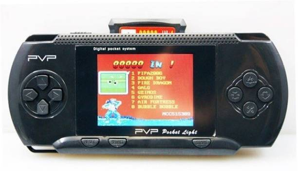 Raysx PVP BLACK COLOR 3000 GAMES VIDEO CONSOLE HANDHELD-TR54 1 GB with SUPER MARIO, ANGRY BIRDS, SUPER RACE, METAL SLUG