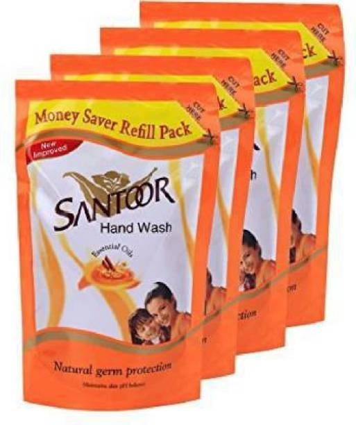 santoor Pouch classic (180 ml * 4 ) Hand Wash Refill Pouch