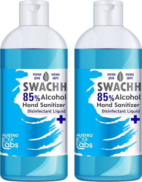 Austro Labs SWACHH HAND SANITIZER LIQUID - REFILL PACK 500 ML * 2 PC Hand Sanitizer Bottle